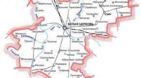 Карта Белоцерковский район, Киевская область, Украина