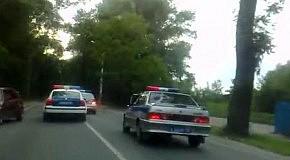Погоня за грузовиком в городе