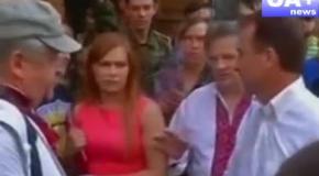 Экс-главу КГГА Попова облили йодом и водой (26.05.2014 )