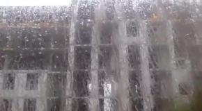 На Днепр обрушилась буря с градом