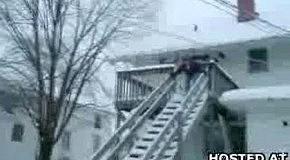 На лыжах по лестнице