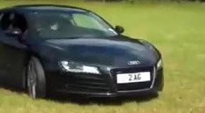 На Audi R8 по полю