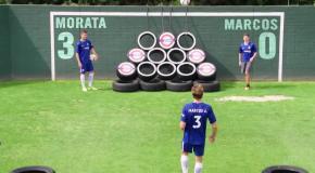 Звезды Челси исполнили невероятные трик-шоты для парней из You-Tube