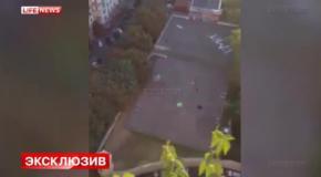 Вывесивший флаг Украины на сталинской высотке спустился вниз на парашюте