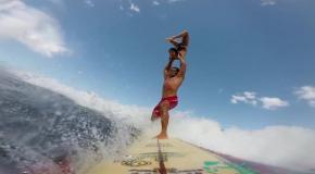 Гимнастика + серфинг, невероятное зрелище
