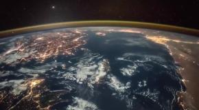 Рассвет на Земле видео из Космоса