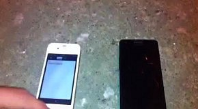 Iphone 4S vs Galaxy S2 в 15-ти градусный мороз