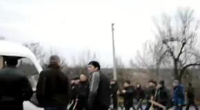 Активисты захватили автобус с титушками в Звенигородке