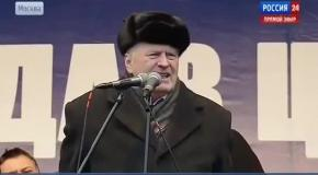 Жириновский призывает ввести войска в Украину