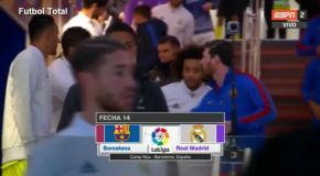 Как Роналду и Месси поздоровались перед матчем