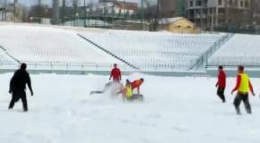 Тренировка Зирки в снегу