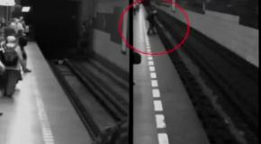 Упоротая в метро