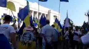 Под Радой украинцы требуют люстрации парламента (часть1)