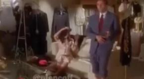 На лабутенах - Мужик зажигает в красных туфлях