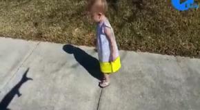 Дети играют со своей тенью