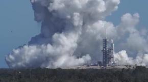 Тест ракеты Falcon Heavy