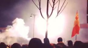 Штурм на Грушевского: взрывы дымовых шашек