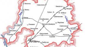 Карта Броварский район, Киевская область, Украина