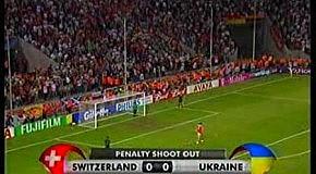Украина против Швейцарии - пеналти