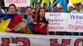 Под Радой украинцы требуют люстрации парламента (часть3)