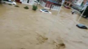 Наводнение в Сочи - Адлер ул. Гастелло 25.06.2015