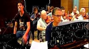 Евровидение 2010 - Harel Skaat(Израиль) репетиция с симфоническим оркестром