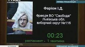 Ірина Фаріон ставить запитання Азарову