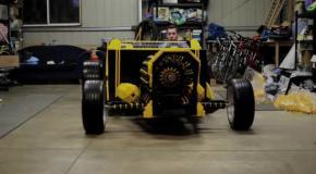 Парень построил полноценный автомобиль из Lego