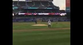 Симона Халеп выполнила символический первый бросок в бейсбольном матче