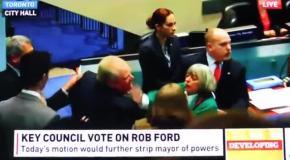 Драка в канадском парламенте