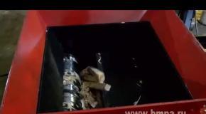 Однороторный шредер для древесины