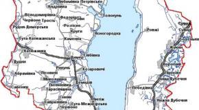 Карта Вышгородский район, Киевская область, Украина