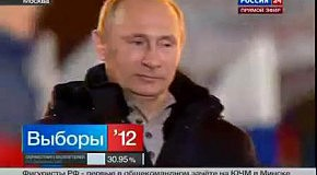 Путин прослезился от победы на выборах 2012