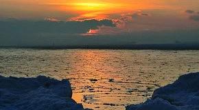 Морские закаты зимой