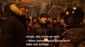 Разговор Владимира Кличко и ударовца с Беркутом