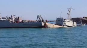 Украинский флот расчищает заблокированный русскими войсками морской путь