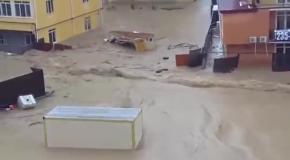 Сочи сильнейший потоп 2015 наводнение Sochi strongest flood in 2015 flood