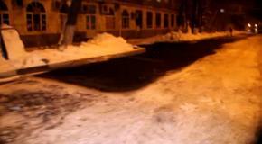 Асфальтирование снега