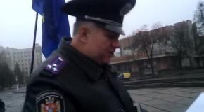 Полковнику не нравится Евромайдан в Житомире