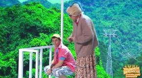 Бабушка на тарзанке