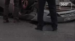 Опубликованы кадры с места аварии, в которой погиб актер