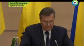 выражение лица Януковича, когда он просит прощение перед гражданами Украины
