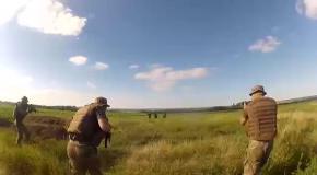 """Обнародовано видео, как """"ополченцы"""" сдаются силовикам АТО"""