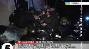 Активисты пикетировали здание Беркута в Киеве