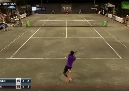ВСША теннисный матч прервали поочень пикантной причине