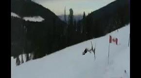 Неожиданно крутой трюк лыжника