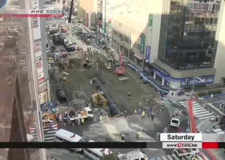 Япония поразила способом ремонта дороги