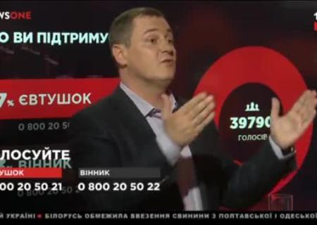 Украинский телевизионный ведущий выгнал спрограммы соратника Порошенко