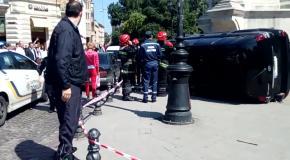В центре Львова Land Cruiser въехал в толпу