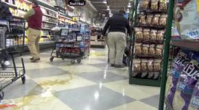 Падения в супермаркете